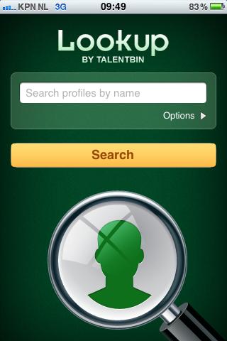 TalentBin Lookup   Zoekscherm