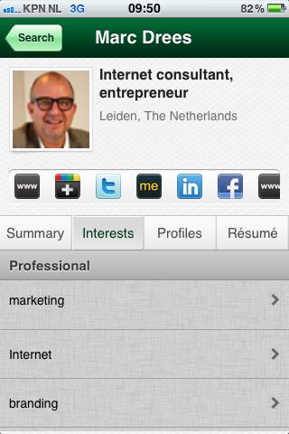 TalentBin Lookup   Interests