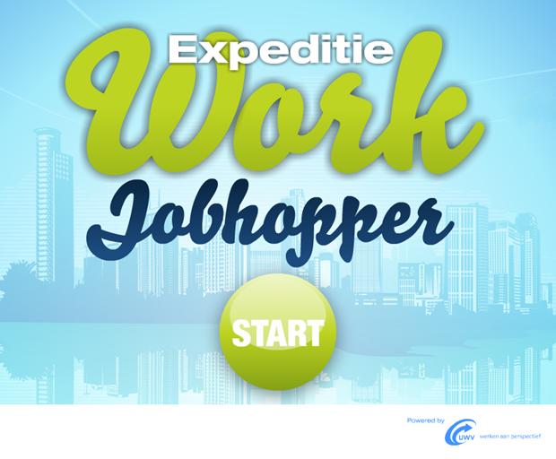 Expeditie Work | Jobhopper game, startscherm
