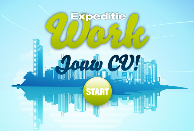 Expeditie Work | Jouw cv game, startscherm