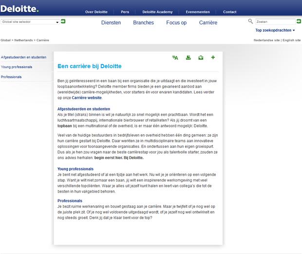 Digitaal Werven: Deloitte   Recruitment onderzoek   Recruitment