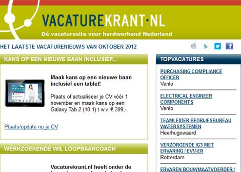 E-mail Vacaturekrant
