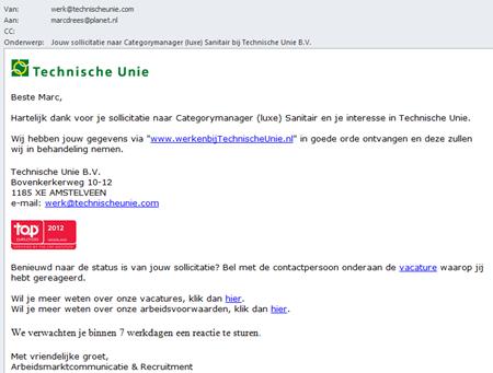 Technische Unie   E-mail