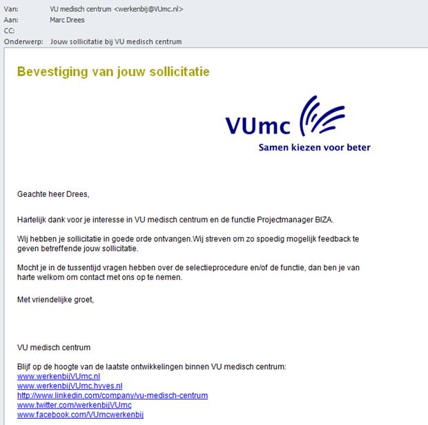 Digitaal Werven: VUmc | Recruitment onderzoek | Recruitment