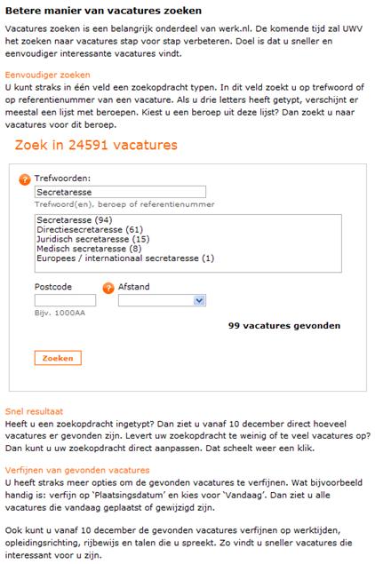 Verbeteringen Werk.nl