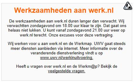 Werk.nl mededeling