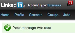 LinkedIn melding 2