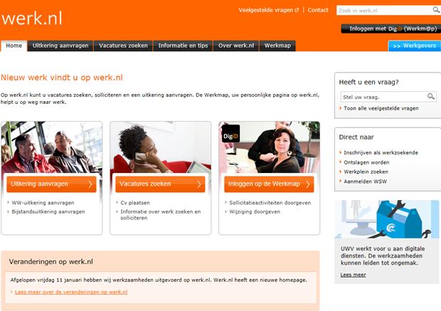 Werk.nl   Homepage