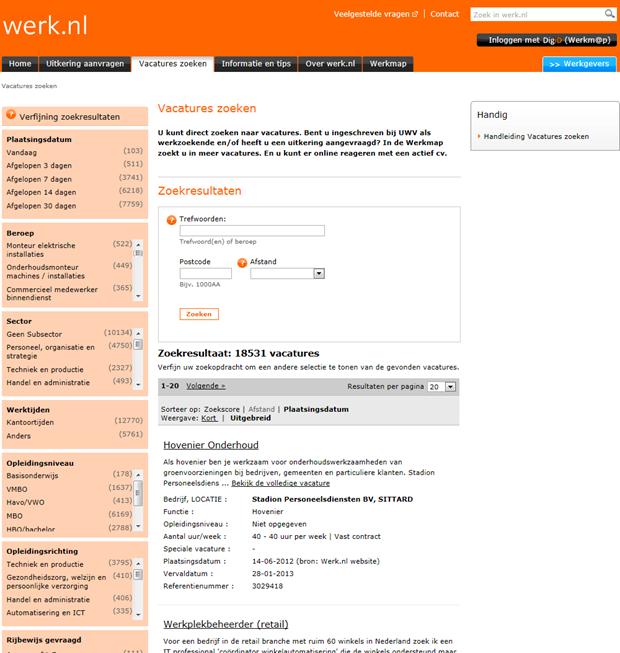 Werk.nl   Zoekresultaat
