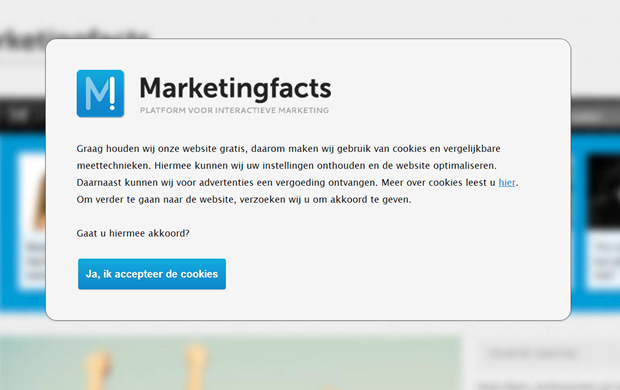 Marketingfacts | Cookiewall