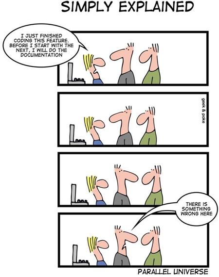 Geek & Poke: Parallel universe