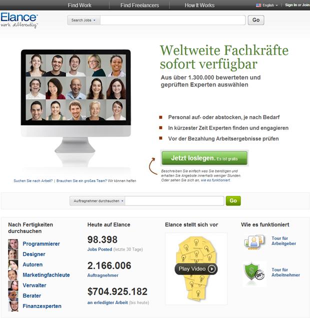 Elance | Homepage