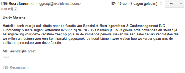 motivatiebrief bank fail: ING leest mijn cv en motivatiebrief niet – Recruitment