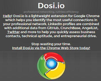 Homepage Dosi.io
