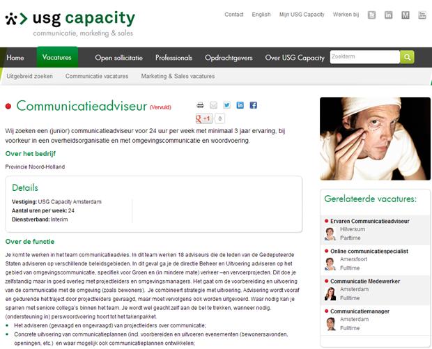 USG Capacity | vacaturepagina