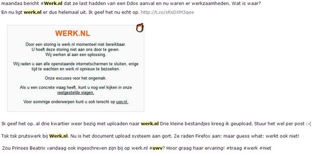 Problemen Werk.nl