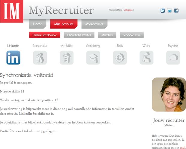 MyRecruiter | Profiel, 2
