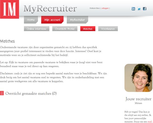 MyRecruiter   Matches