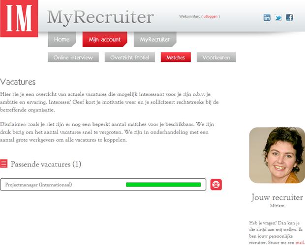MyRecruiter | Vacatures