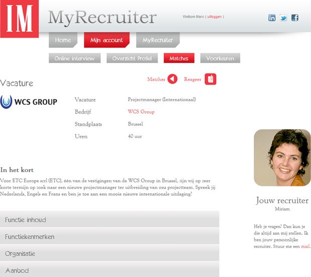 MyRecruiter | Vacature