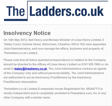 TheLadders UK failliet