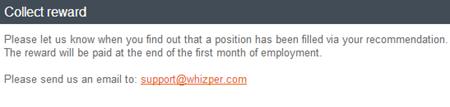 Whizper   collect reward