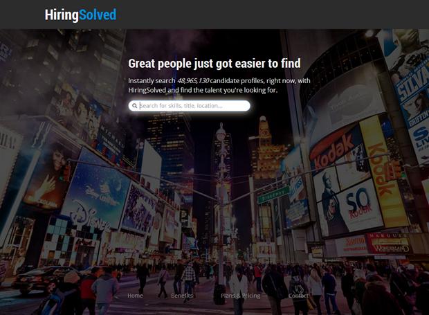 HiringSolved   Zoekscherm, not looged in