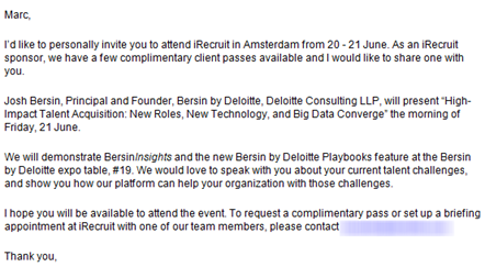 E-mail Bersin by Deloitte