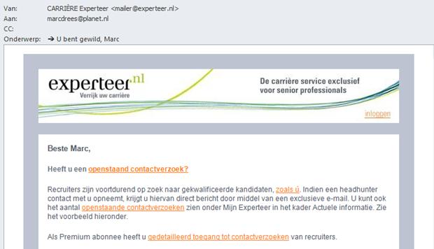 E-mail Experteer