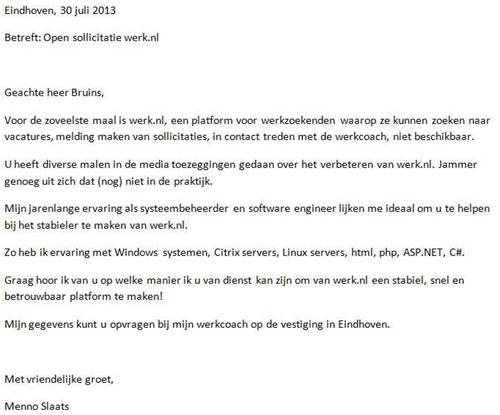 open sollicitatie uitzendbureau Hulp voor Werk.nl! – Recruitment Matters – Alles over online