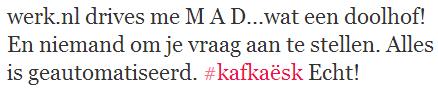 tweet over Werk.nl