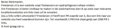 Freelancer.nl bedelmail