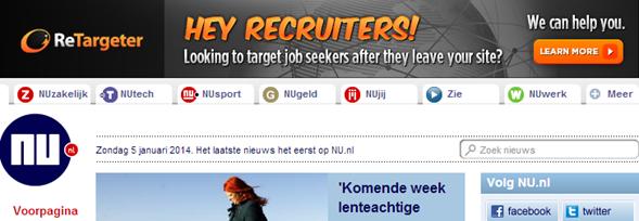 Reclame op Nu.nl