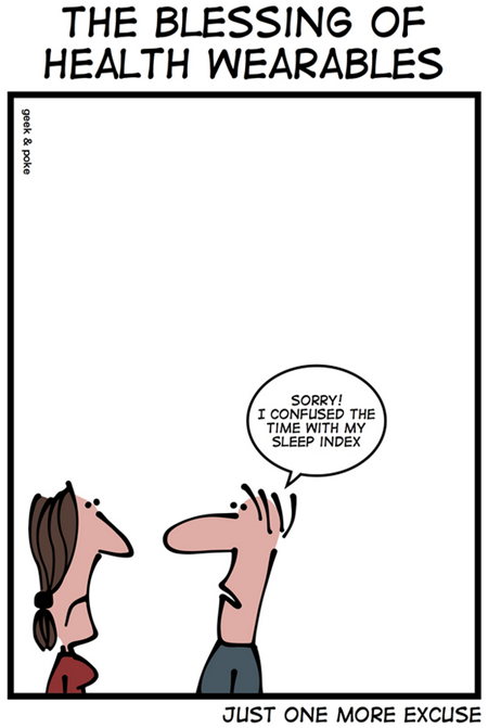 Geek & Poke: Just one more excuse