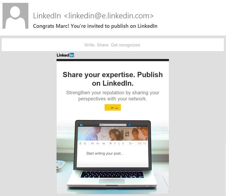LinkedIn uitnodiging