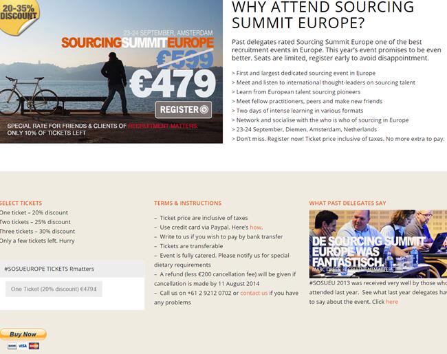 Aanmeldformulier Sourcing Summit Europe