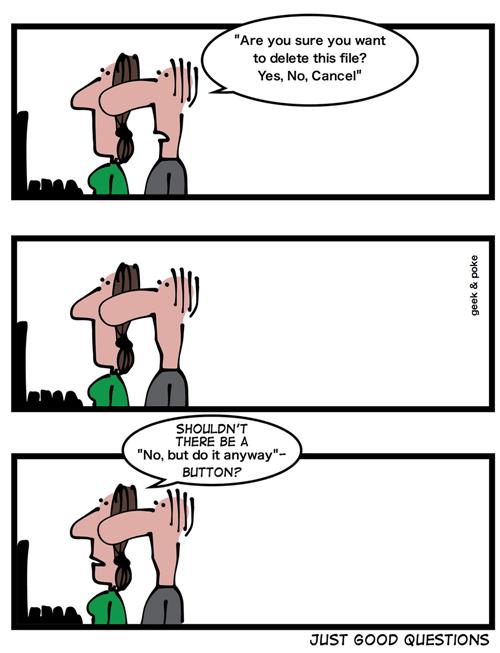 Geek & Poke: Good questions