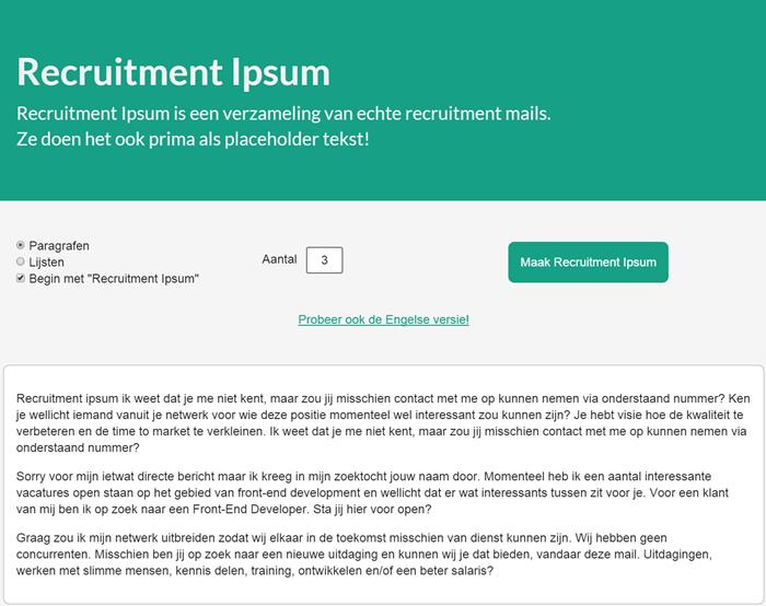 Recruitment Ipsum