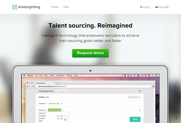 AmazingHiring homepage