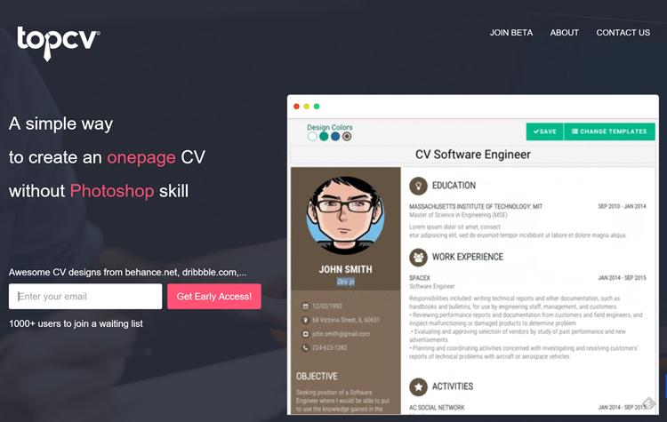 Homepage Topcv