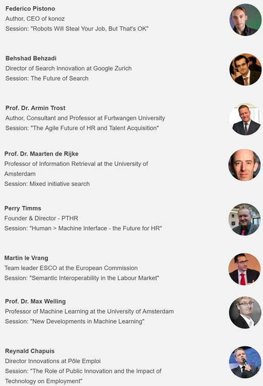 Line-up conferentie Intelligent Machines and the Future of Recruitment