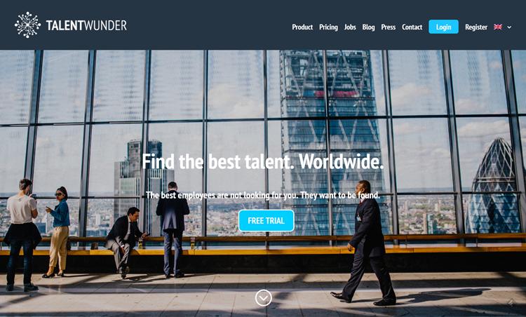 Talentwunder homepage