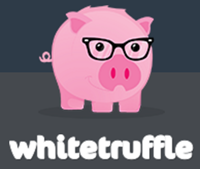 Whitetruffle logo en logotype