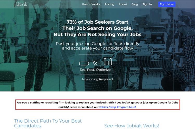 Homepage Jobiak