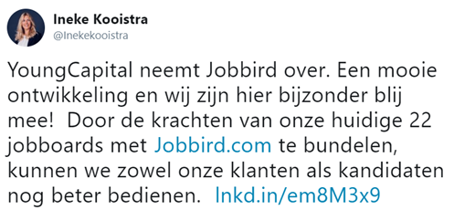 Tweet Ineke Kooistra