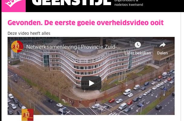 f7755d9483b Een recente video van Provincie Zuid-Holland dicht het gat tussen deze  tegenstellingen op formidabele wijze. Zelfs Geenstijl heeft geen verweer  tegen de ...