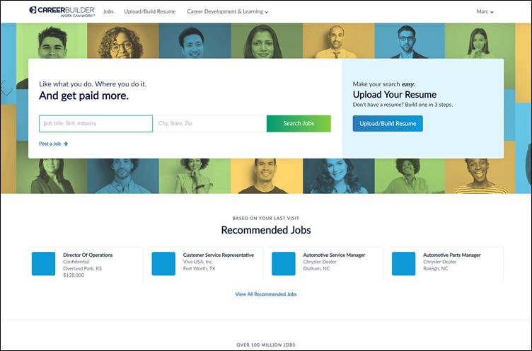 Homepage CareerBuilder