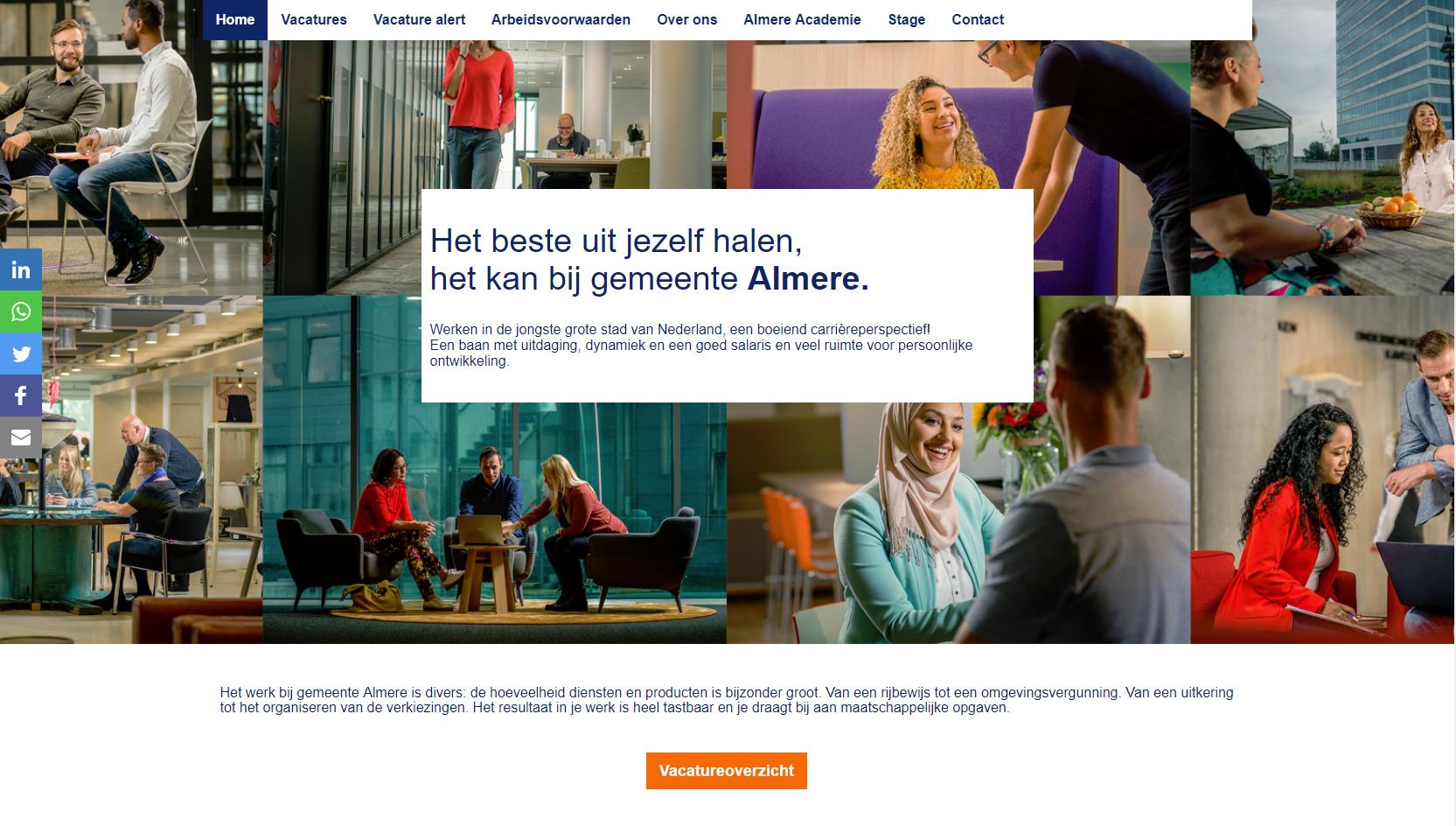 De werken bij site van Almere