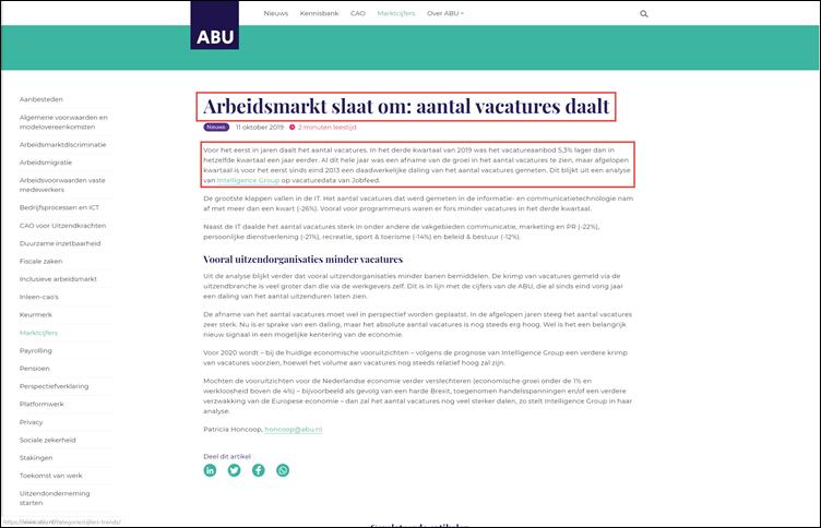 Webpagina ABU