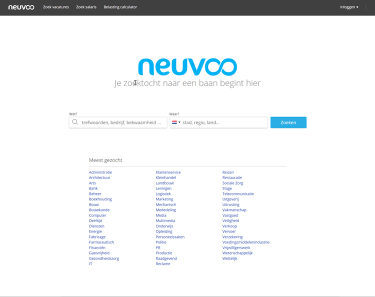 Neuvoo homepage